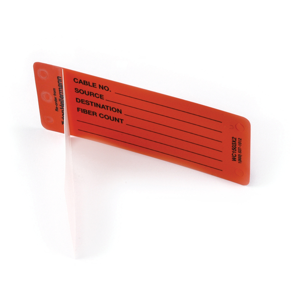Self-Laminating Tag, Adhesive, Generic Write-On, Blank Lines, 4.0