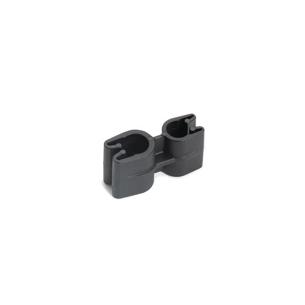 Tube and Pipe Clip 1x4 and 1x5mm Diameter, PA66HIRHSUV, Black, 10,000/ctn