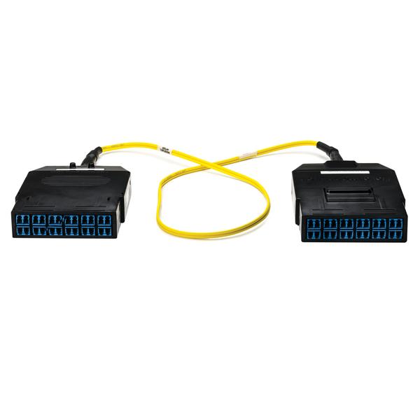 RapidNet Fiber LC Cassette to LC Cassette, OS2 SM Plenum Cable, Yellow, 24-fiber (12-port), 1/ctn