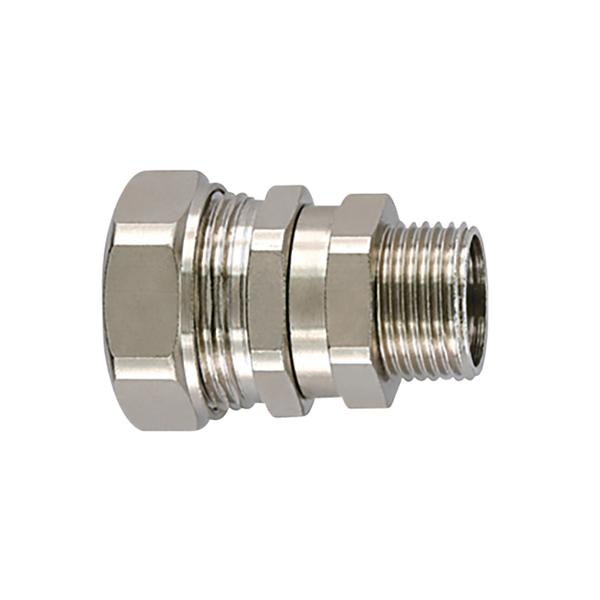Metallic Compression Fitting, Straight Swivel, M25 Metric Thread, 3/4