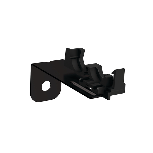 Conduit Clamps, Size 6, Mounting Hole 6.5 mm, Offset 50.0 mm, PP, Black, 500/pkg