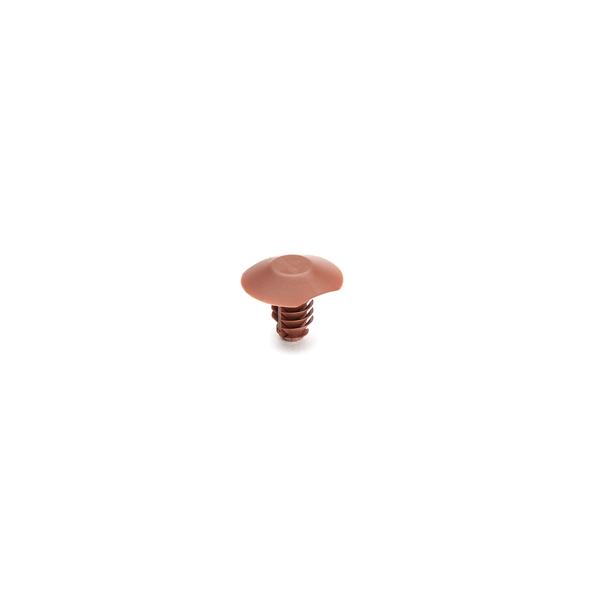 Push Pin, Mounting Hole Dia. 6.5mm, PA46, Brown, 5000/carton