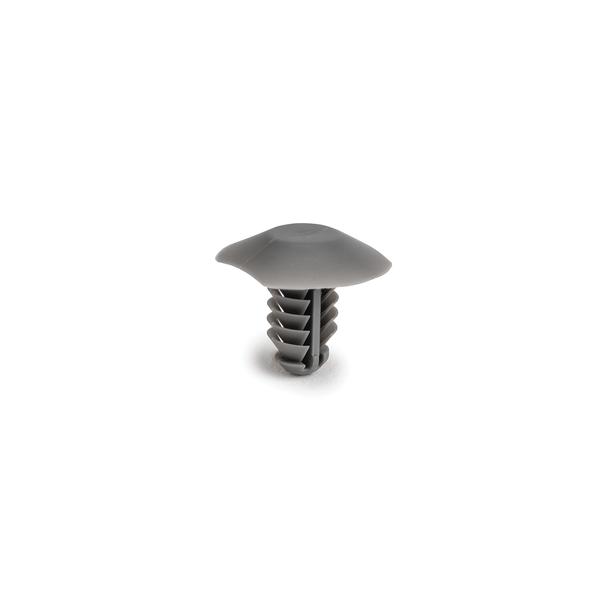 Push Pin, Mouting Hole Dia. 6.5mm, PA66HIRHS, Grey, 5000/carton