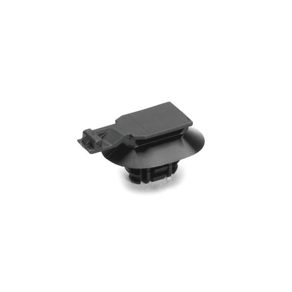 Connector Clip w/Oval Fir Tree, 0.6 - 3.0 mm Panel Thickness, 6.2 - 13.0mm Hole, PA66HIRHSUV, Black, 1000/ctn