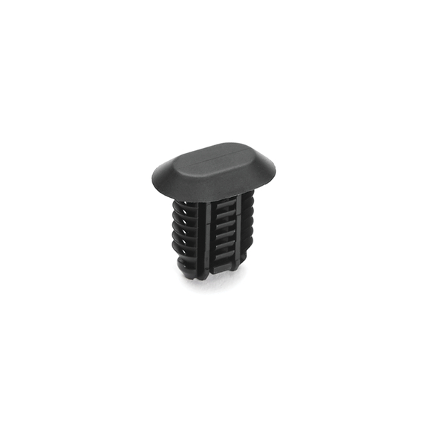 Push Pin, Mounting Hole Dia. 6.5x12.5mm, PA66HIRHS, Black, 3000/carton