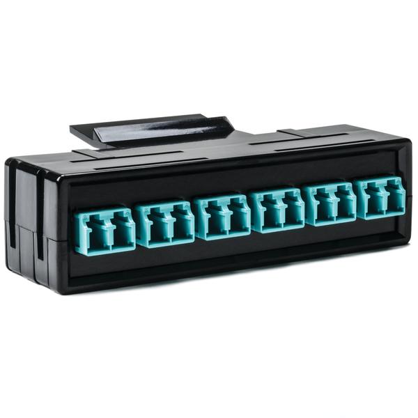 RapidNet Fiber Adapter Panel 6 DUP, MM, LC Aqua 1/pkg