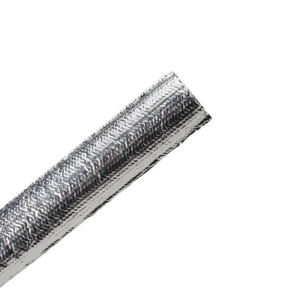 Braided Sleeving, Aluminum Laminated Fiberglass, 0.75