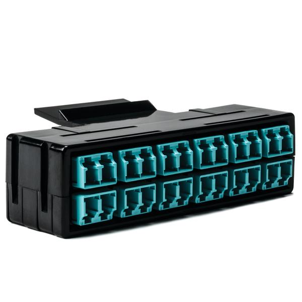 RapidNet Fiber Adapter Panel 12 DUP, MM, LC Aqua 1/pkg