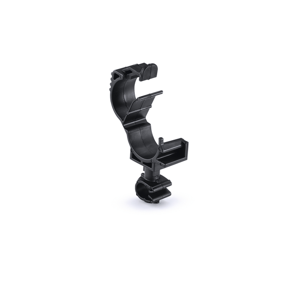 LOC Locking Clamp, 10-14 mm, to MOC Clip, 7 mm, PA66HIRHSUV, Black, 2500/ctn