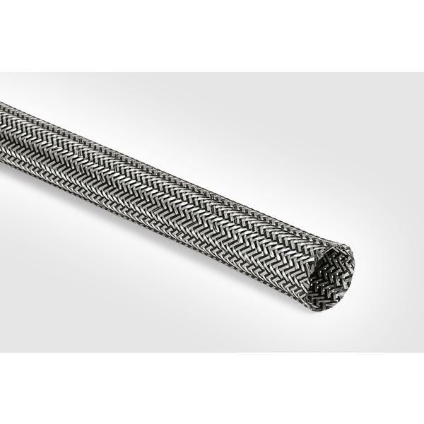 Electromagnetic Protection Braided Sleeving, 14 mm Dia, PET;TNCU, TCBK, 328ft/Reel