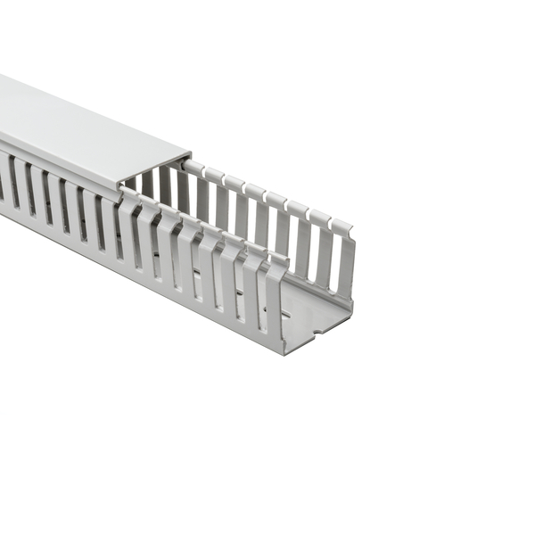 Halogen Free Slotted Wiring Duct, w/o Adhesive, 50mm x 50mm, PC/ABS, Gray RAL, 42 m/Box