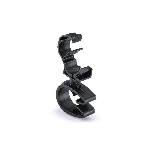 LOC Locking Clamp, 5-9 mm, to MOC Clip, 19 mm, PA66HIRHSUV, Black, 1000/ctn