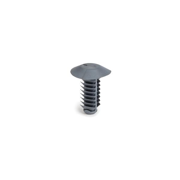 Push Pin w/Round Fir Tree, 0.6-12.5mm Panel Thickness, 6.1-6.7mm Dia, PPS, Bk, 5000/ctn
