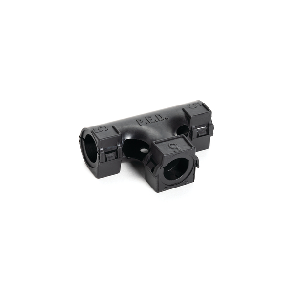 Hinged Convoluted Loom Tubing T-Fitting, L- 0.50