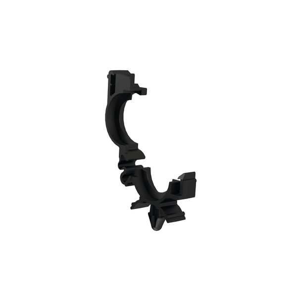 Conduit Clamps, Size 16, Mounting Hole 6.35 mm, Arrowhead With Wings, PA66, Black, 936/carton