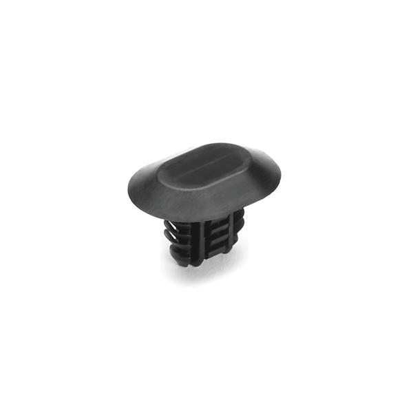 Push Pin, Mounting Hole Dia. 6.2-7.0x12.2-13.0mm, PA66HIRHS, Black, 7000/carton