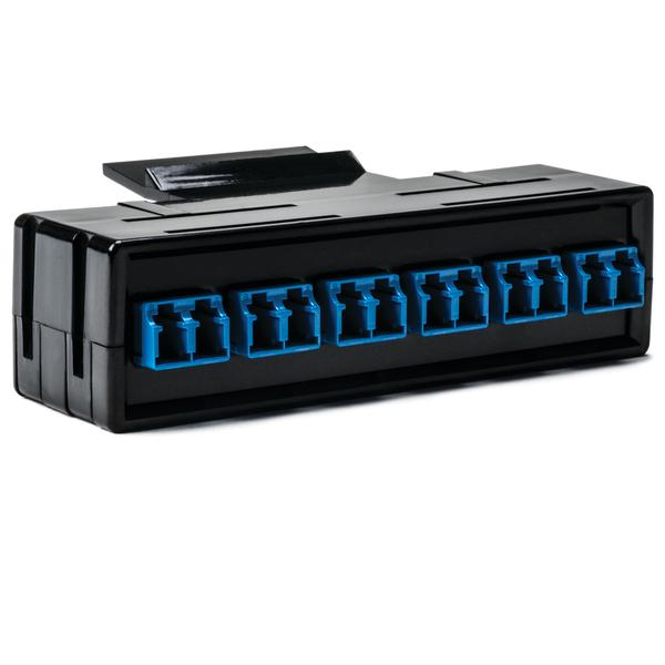 RapidNet Fiber Adapter Panel 6 DUP, SM, LC Blue 1/pkg