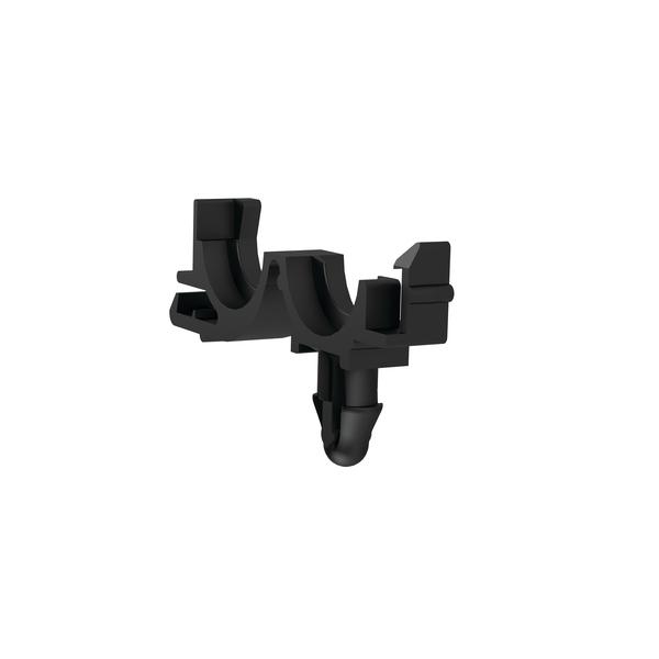 Conduit Clamps, Size 10, Mounting Hole 6.35 mm, Arrowhead, PP, Black, 2000/Pkg
