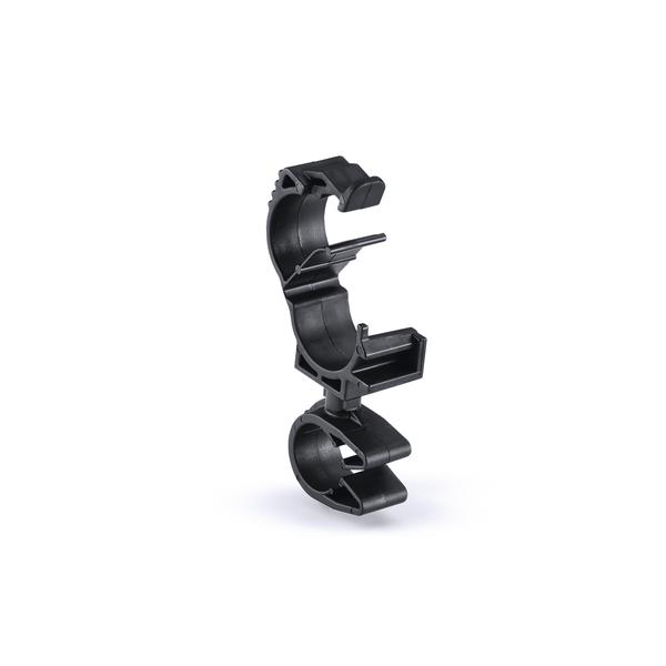 LOC Locking Clamp, 10-14 mm, to MOC Clip, 12 mm, PA66HIRHSUV, Black, 2000/ctn