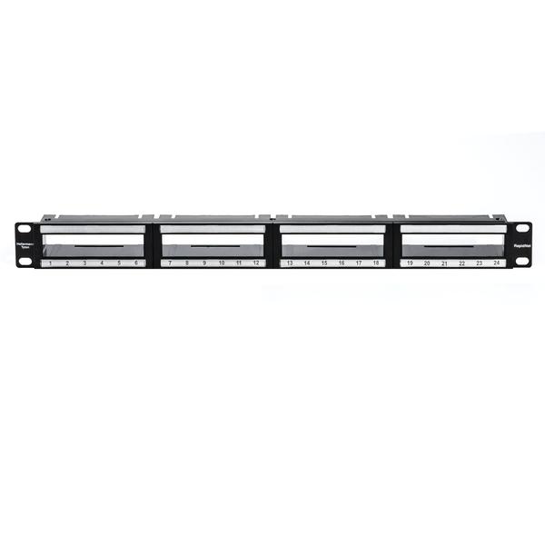 RNG Series RapidNet Modular Panel 1U, Black, 1/box
