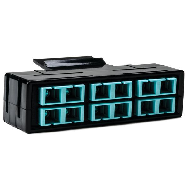 RapidNet Fiber Adapter Panel 6 DUP, MM, SC Aqua 1/pkg