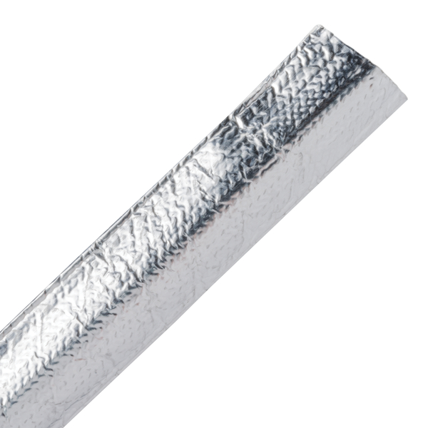 Braided Sleeving, Aluminum Laminated Fiberglass, 0.5