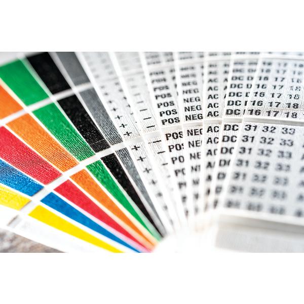 Handi-Pak Marker Booklet, (10) A–Z, 1–15, +, -, /, White, 1/pkg